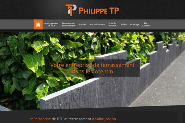 Philippe TP<br /><h5>Travaux Publics &#8211; Terrassement</h5>