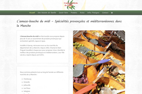 L&rsquo;amuse-bouche du midi<br /><h5>Spécialités provençales et méditerranéennes</h5>